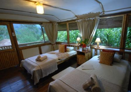 Inside buhoma lodges