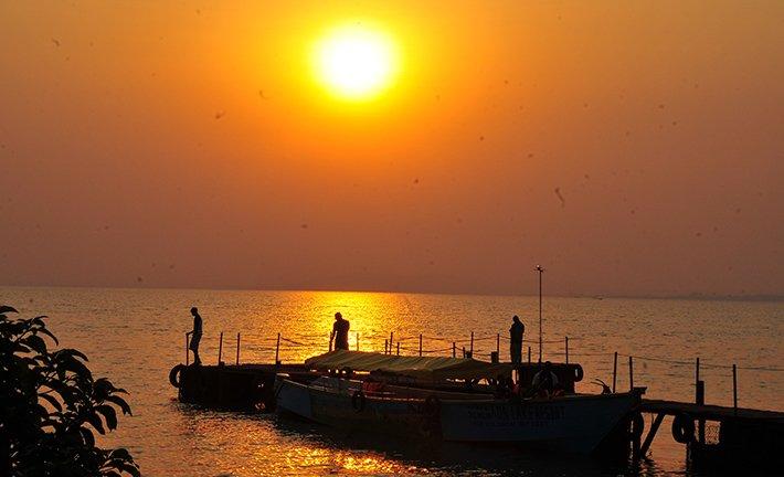 Sunset cruises on lake Victoria