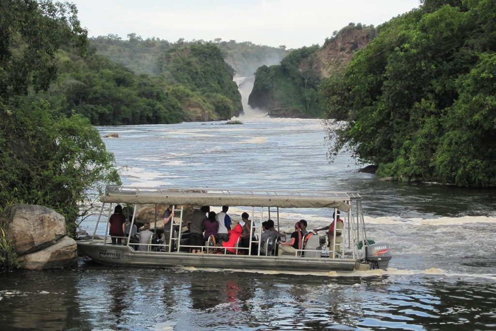 Boat Cruise to the bottom of the falls – Nile River, Murchison Falls NP