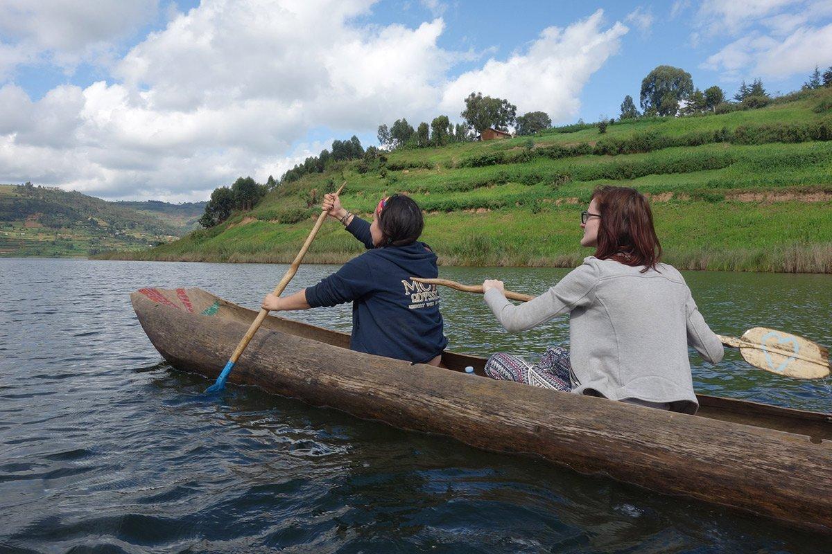 Safaris on lake bunyonyi