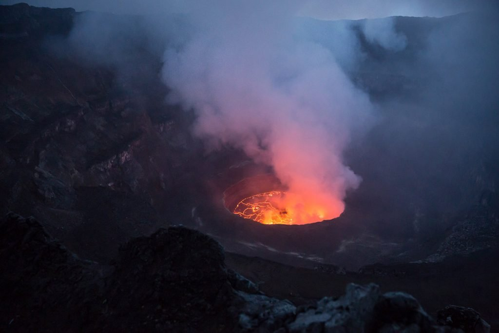 Mount nyiragongo hiking